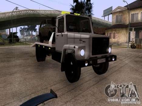 Caminhão de reboque de GAZ 3309 para GTA San Andreas esquerda vista