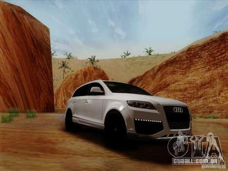 Audi Q7 2010 para GTA San Andreas traseira esquerda vista