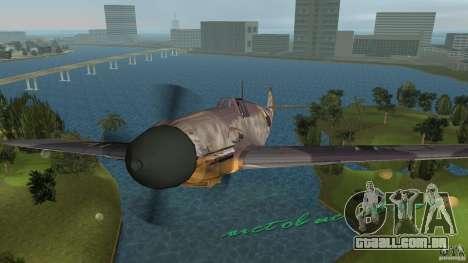 WW2 War Bomber para GTA Vice City vista direita