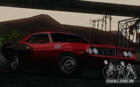Plymouth Hemi Cuda 426 1971 para GTA San Andreas