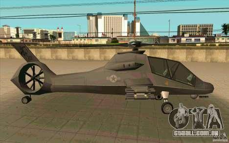Sikorsky RAH-66 Comanche default grey para GTA San Andreas vista direita