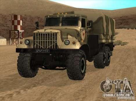 KrAZ v 1.0 para GTA San Andreas vista direita