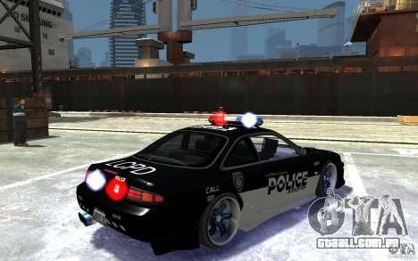 Nissan 200SX Police v0.2 para GTA 4 vista direita