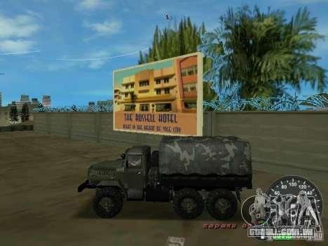 Ural 4320 militar para GTA Vice City deixou vista