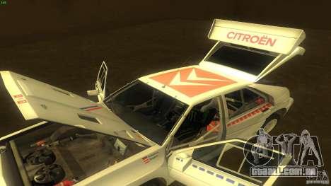 Citroen BX 4TC para vista lateral GTA San Andreas