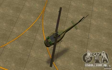 UH-1D Slick para GTA San Andreas vista traseira