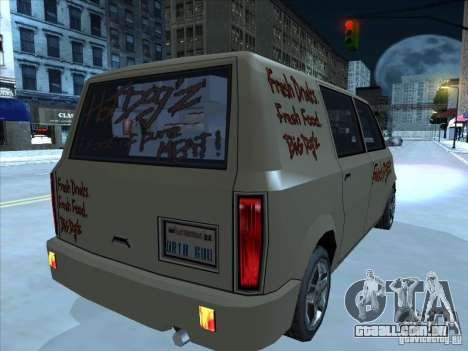 Hot Dog Moonbeam para GTA San Andreas vista direita