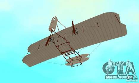 The Wright Flyer para vista lateral GTA San Andreas