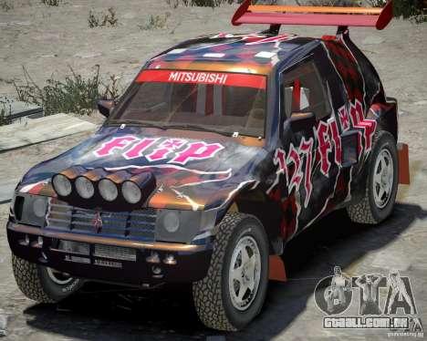 Mitsubishi Pajero Proto Dakar vinil 3 para GTA 4 esquerda vista