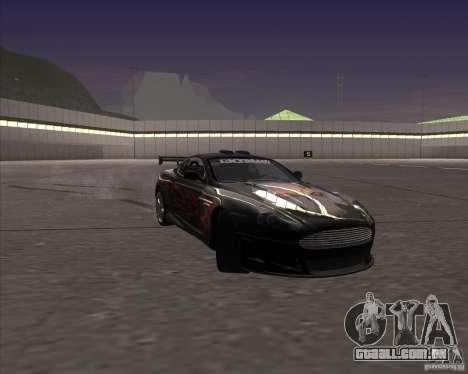 Aston Martin DB9 tunable para GTA San Andreas vista superior