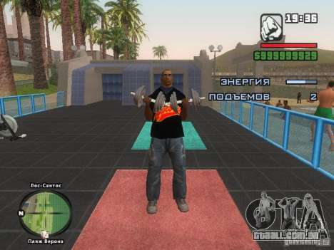 A t-shirt MIZ para GTA San Andreas oitavo tela