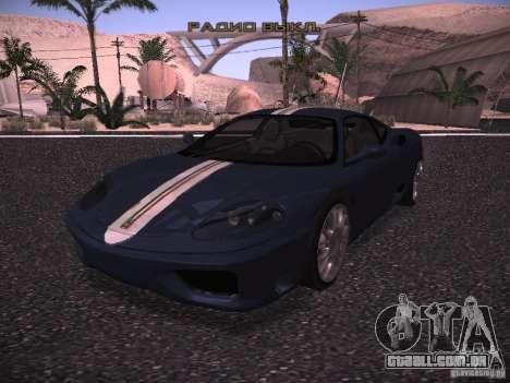 Ferrari 360 Modena para GTA San Andreas vista superior