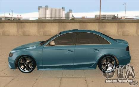 Audi S4 2009 para GTA San Andreas esquerda vista