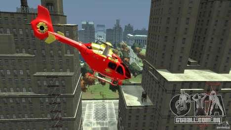 Medicopter 117 para GTA 4 traseira esquerda vista