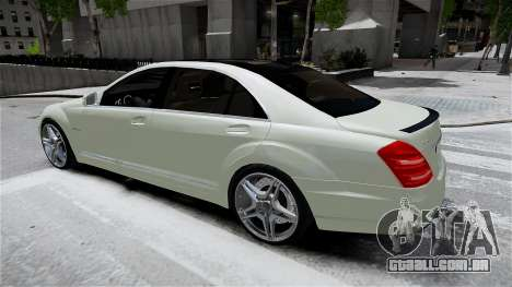 Mercedes-Benz S65 AMG LONG 2010 para GTA 4 esquerda vista