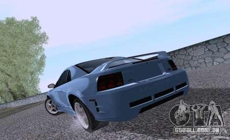 Ford Mustang SVT Cobra 2003 White wheels para GTA San Andreas vista direita