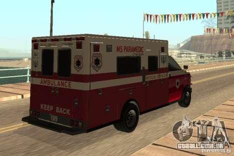 Ambulância de GTA 4 para GTA San Andreas vista direita