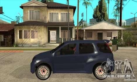 Suzuki Ignis Rally para GTA San Andreas esquerda vista