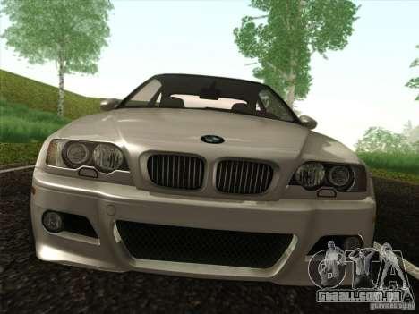 BMW M3 E46 para GTA San Andreas vista interior
