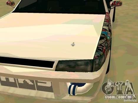 New Sultan v1.0 para GTA San Andreas traseira esquerda vista