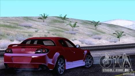 Mazda RX8 R3 2011 para GTA San Andreas vista superior