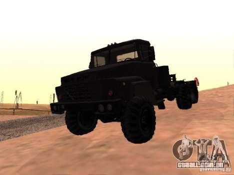 KrAZ 260V para GTA San Andreas vista superior
