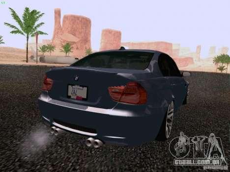 BMW M3 E90 Sedan 2009 para GTA San Andreas esquerda vista