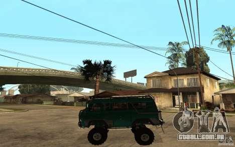 Pão de UAZ de difícil Off-Road para GTA San Andreas esquerda vista