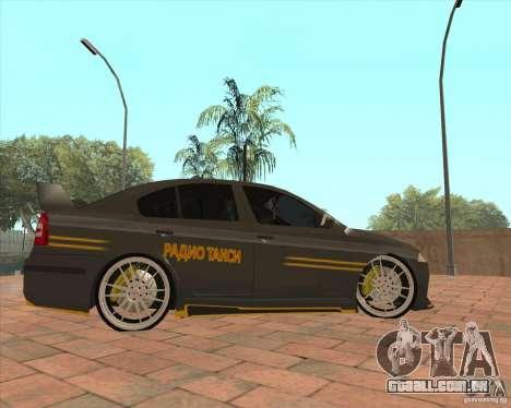 Skoda Octavia Taxi para GTA San Andreas esquerda vista