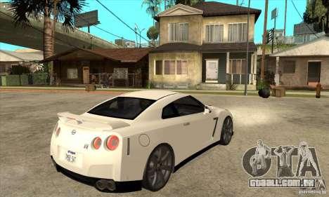 Nissan GT-R R35 2008 para GTA San Andreas vista direita