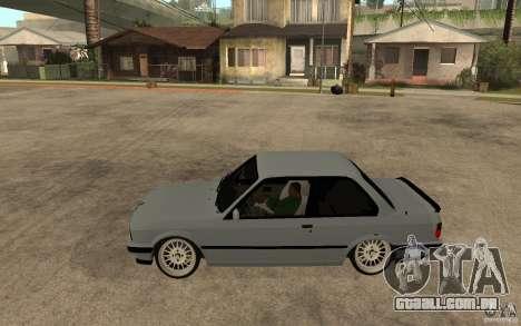 BMW E30 CebeL Tuning para GTA San Andreas esquerda vista