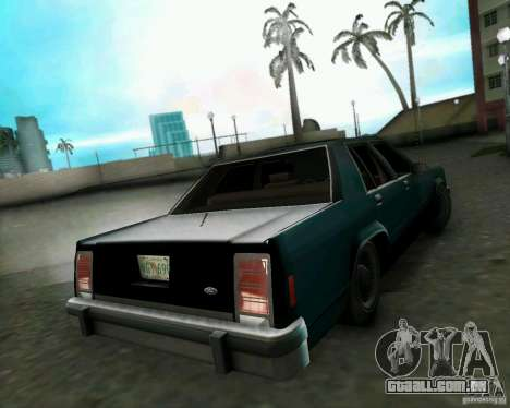Ford Crown Victora LTD 1985 para GTA Vice City vista traseira esquerda