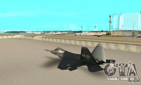 YF-22 Standart para GTA San Andreas traseira esquerda vista
