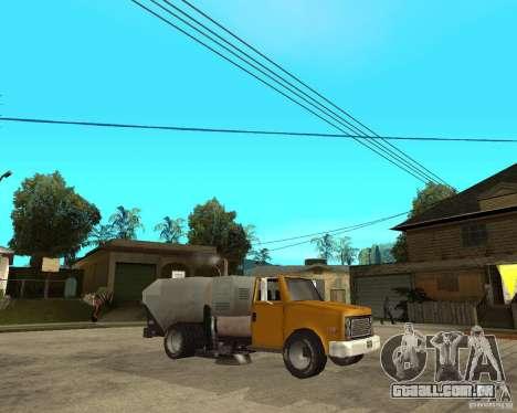 Caminhão de limpeza para GTA San Andreas vista direita