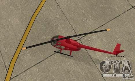 Robinson R44 Raven II NC 1.0 pele 1 para GTA San Andreas vista interior