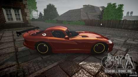 Dodge Viper 1996 para GTA 4 vista interior