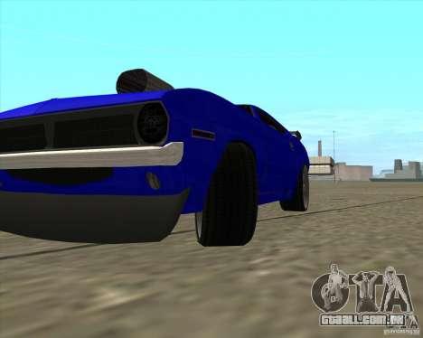 Plymouth Hemi Cuda de NFS Carbon para GTA San Andreas vista traseira