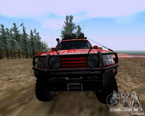 Toyota Land Cruiser 100 Off-Road para GTA San Andreas vista interior