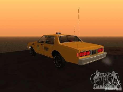 Chevrolet Caprice 1986 Taxi para GTA San Andreas esquerda vista