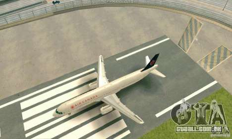 Airbus A321 Air Canada para GTA San Andreas esquerda vista