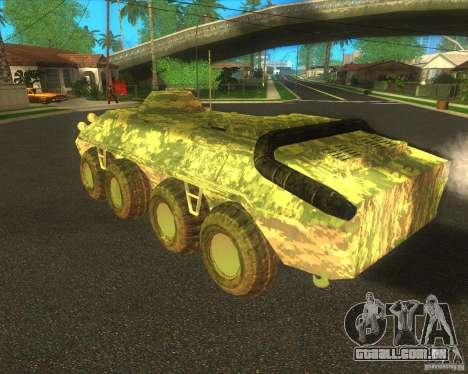 Camuflagem eletrônica BTR-80 para GTA San Andreas vista direita