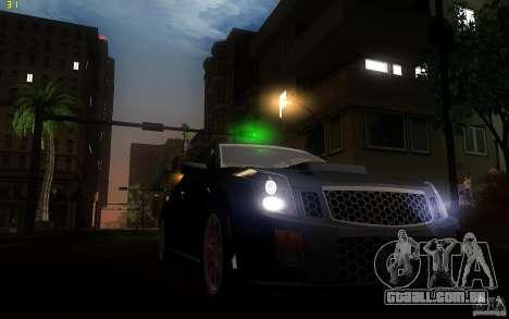 Cadillac CTS-V para GTA San Andreas vista interior