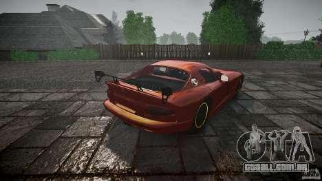 Dodge Viper 1996 para GTA 4 vista lateral