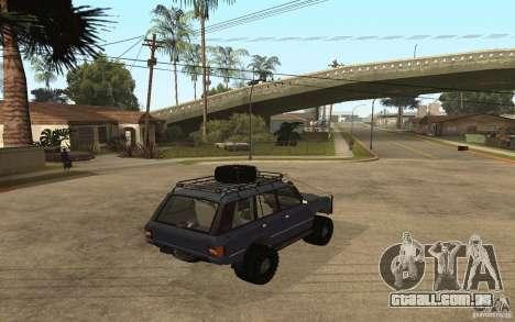 Range Rover Off Road para GTA San Andreas esquerda vista