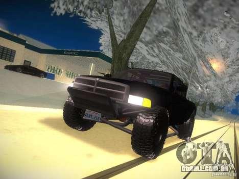 Dodge Ram Prerunner para GTA San Andreas vista superior