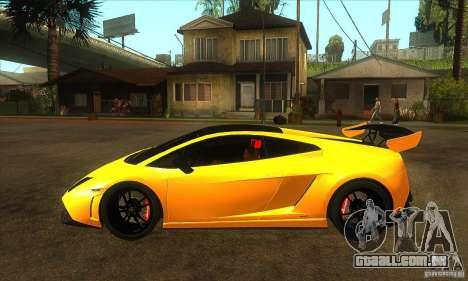 Lamborghini Gallardo LP570 Super Trofeo Stradale para GTA San Andreas esquerda vista