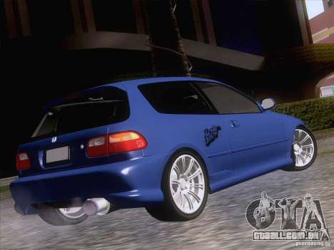 Honda Civic IV GTI para GTA San Andreas esquerda vista