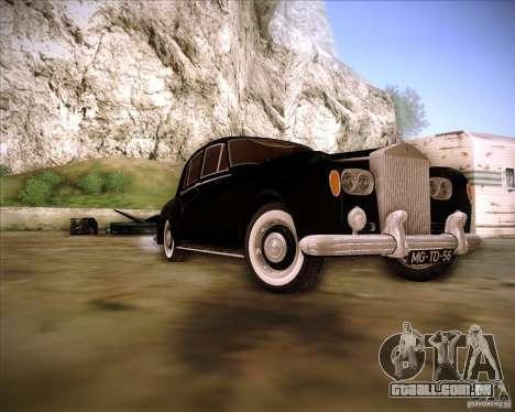 Rolls Royce Silver Cloud III para GTA San Andreas vista traseira
