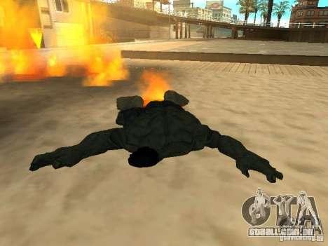 Hulk Skin para GTA San Andreas por diante tela