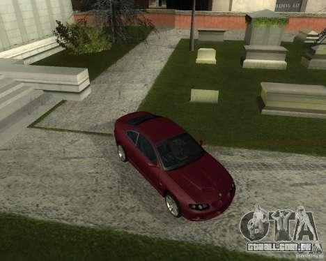Vauxhall Monaro para GTA San Andreas esquerda vista